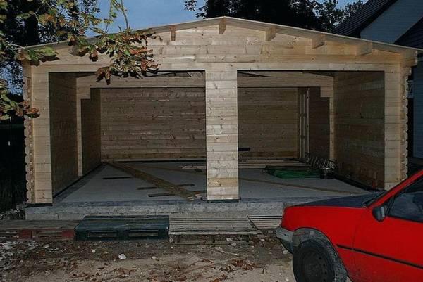 prix du m2 pour une construction de garage en bois