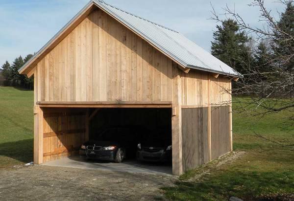 prix construction garage double 20m2