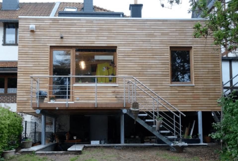 prix extension maison sur pilotis acier
