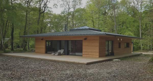 maison ossature bois design