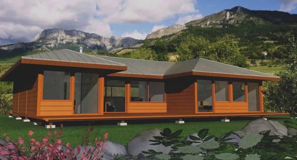 projet maison ossature bois sur pilotis